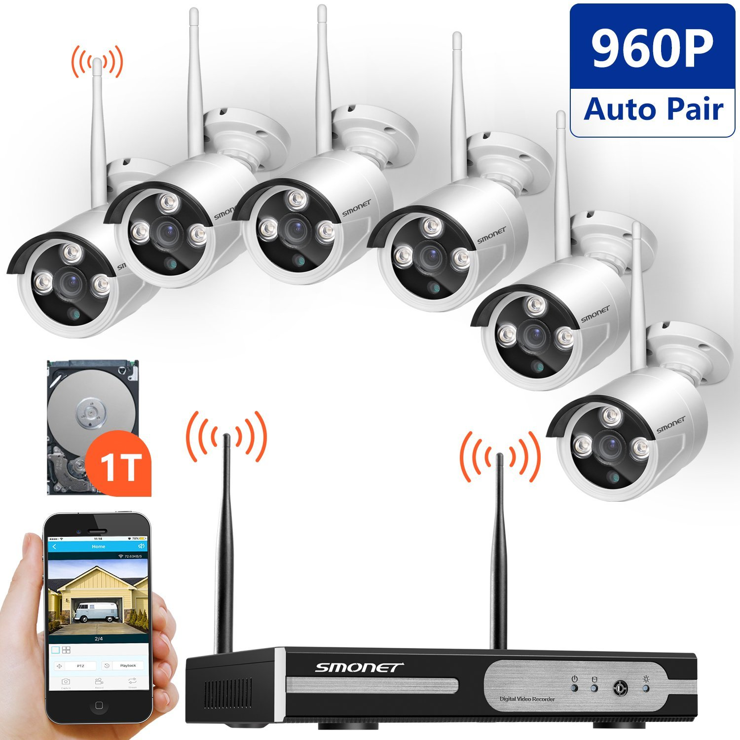 Smonet 6 Channel 960p Hd Wireless Video Security System Review